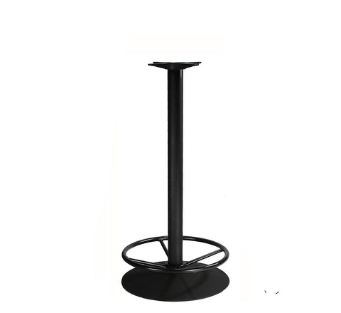 DHC BS-BLK-22R-41H Bar High Steel Round Table Base With Foot Ring