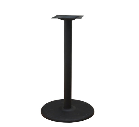 "DHC BS-BLK-22R-41""H Round Steel Table Base For Restaurants With Black Finish"