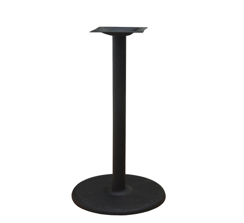 DHC BS-BLK-22R-28H Round Steel Table Base