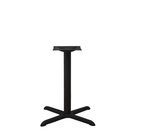 "DHC BS-BLK-3030-28""H STEEL CROSS TABLE BASE. BLACK FINISH"
