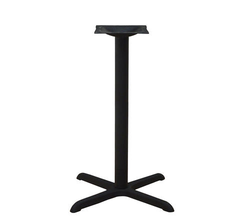 "DHC BS-BLK-3030-41""H STEEL CROSS BAR HIGH TABLE BASE. BLACK FINISH"