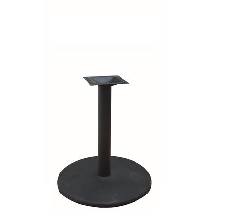 "DHC BS-BLK-30R-28H Steel Round Table Base, 28""H Black Finish"