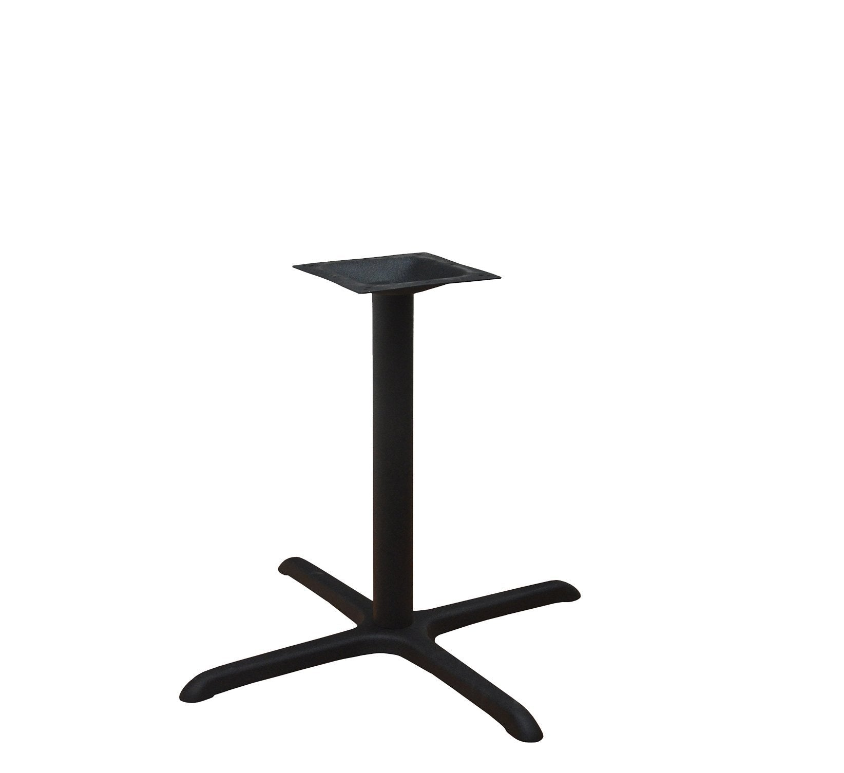 "DHC BS-BLK-3636-28H Steel Cross Table Base, 28""H Black Finish"