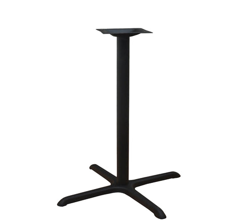 DHC BS-BLK-3636-41H STEEL CROSS TABLE BASE. BLACK FINISH