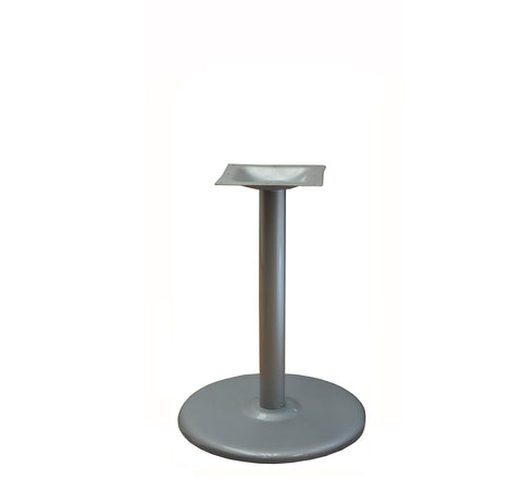 DHC BS-SIL-22R-28H Round Steel Table Base In Silver Finish