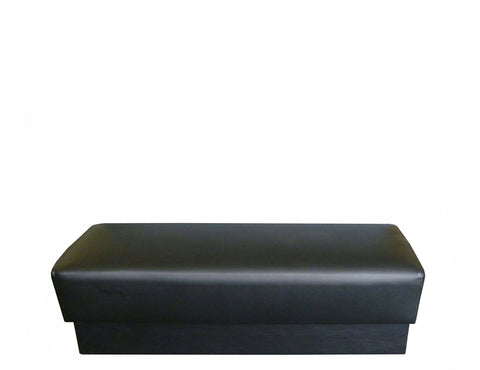 DHC BT-4410 Standard Waiting Bench, Fully Covered  & Black Vinyl Kick Base