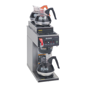 BUNN 12950.0213 CWTF15-3 Coffee Brewer, automatic, with 1 lower and 2 upper warmers, brews 3.9 gallons per hour, 120v/60/1-ph, 14 amps, 1670 watts, UL, NSF