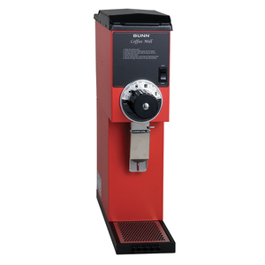 BUNN 22100.0001 G3HD Red Bulk Coffee Grinder, 3 lb. Capacity, 120v