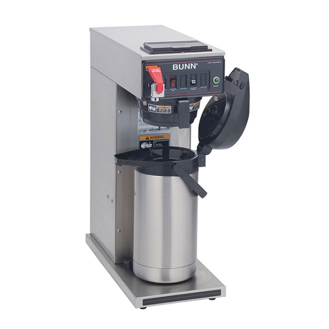 BUNN 23001.0006 CWTF15-APS Airpot Coffee Brewer, automatic, brews 3.8 gallons per hour capacity, 120v/60/1-ph, 1370w