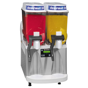 BUNN 34000.0079 ULTRA-2 High Performance Ultra Gourmet Ice® Frozen Drink Machine, counter model, (2) 3 gallon hoppers, 120v/60/1-ph, 12amps, NEMA 5-15P, NSF, ETL