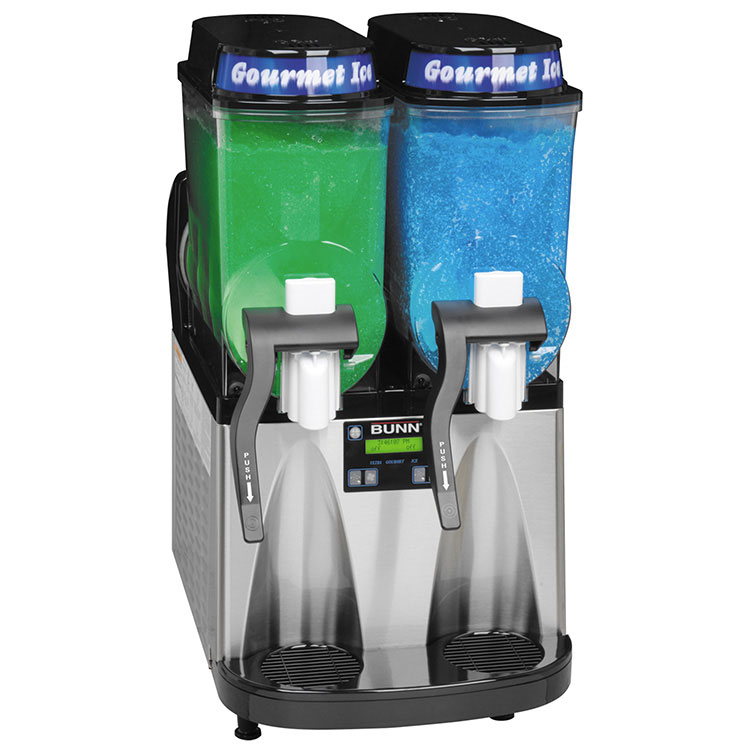 BUNN 34000.0081 ULTRA-2 Ultra Gourmet Ice® Frozen Drink Machine, (2) 3 Gallon Hoppers, 120v
