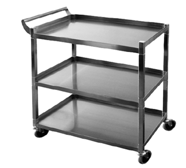 "GSW C-32K Bus Cart, small, 3-tier, 29-1/2""W x 18""D x 35-1/4""H"
