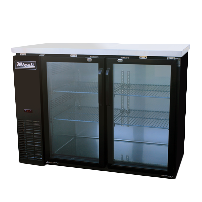 Migali C-BB48G-HC Competitor Series® Two-Section Refrigerated Back Bar Cabinet, 115v/60/1-ph