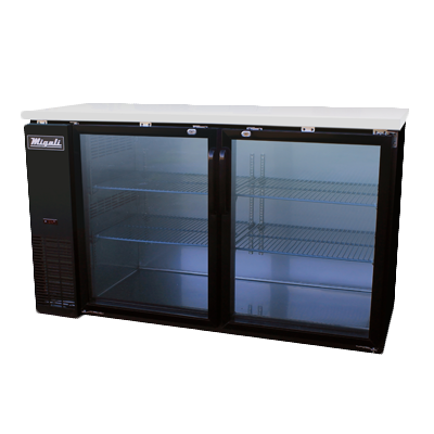 Migali C-BB60G-HC Competitor Series® Two-Section Refrigerated Back Bar Cabinet, 1/3 HP, 115v/60/1-ph