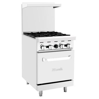 "Migali C-RO4-NG Competitor Series® Natural Gas Range - 24"" W, (4) Burners, (1) Oven"