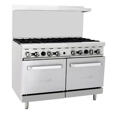 "Migali C-RO8-NG Competitor Series® Natural Gas Range - 48""W, (6) Burners, (2) Ovens"
