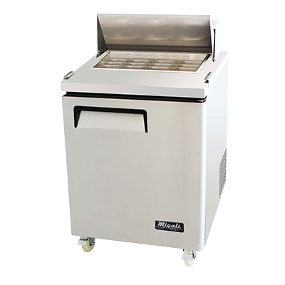 Migali C-SP27-12BT-HC Competitor Series® One-Section Big Top Sandwich Prep Table - 115v/60/1-ph