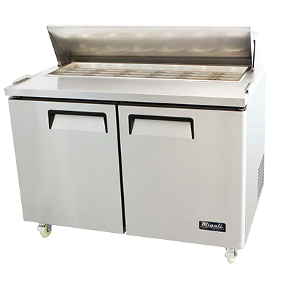 Migali C-SP48-18BT-HC Competitor Series® Two-Section Big Top Sandwich Prep Table 115v/60/1-ph