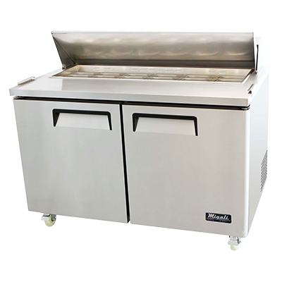 Migali C-SP60-16-HC Competitor Series® Two-Section Refrigerated Counter/Sandwich Prep Table 115v/60/1-ph