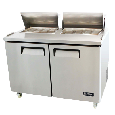 Migali C-SP60-24BT-HC Competitor Series® Two-Section Big Top Sandwich Prep Table 115v/60/1-ph