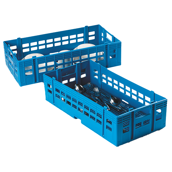 Carlisle C13514 OptiClean™ Stack-All™ Dishwasher Rack, half-size, open bottom, blue, NSF