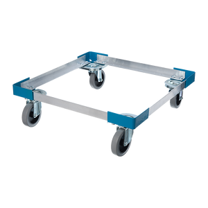 Carlisle C2220A14 E-Z Glide™ Dolly, 300 lb. capacity, open frame design, no handle, aluminum, blue