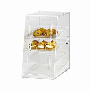 Cal-Mil 1012 Classic 4-Tier U-Build Display Case, Attendant Serve, Clear Acrylic