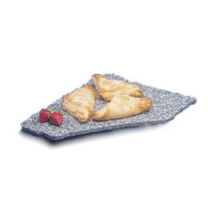 "Cal-Mil 127-31 X-Stone Display Tray - 12""D x 15""W, Plastic, Black Ice"
