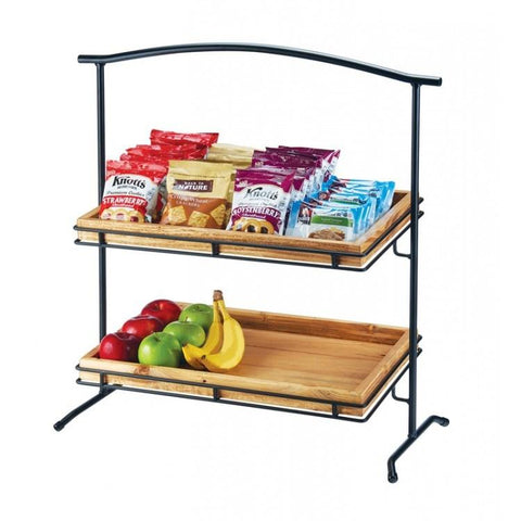 Cal-Mil 1330-12-13 2 Tier Arched Display Stand Frame, Metal, Black