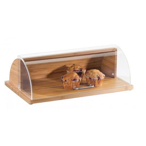 Cal-Mil 1333-60 Bread Box, Acrylic Roll Top Cover, Bamboo