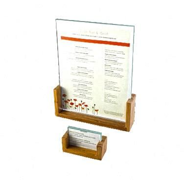 "Cal-Mil 1510-411-60 Tabletop Menu Card Holder - 4"" X 11"", Bamboo"