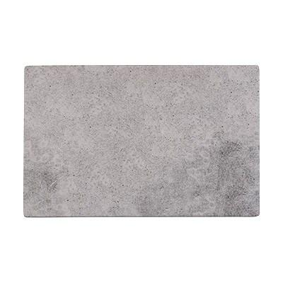 "Cal-Mil 1522-1014-77 14"" X 10"" Rectangular Faux Cement Serving Platter"