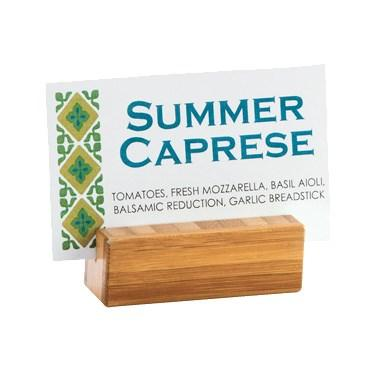 Cal-Mil 1543-60 Table Number/Card Holder, Bamboo