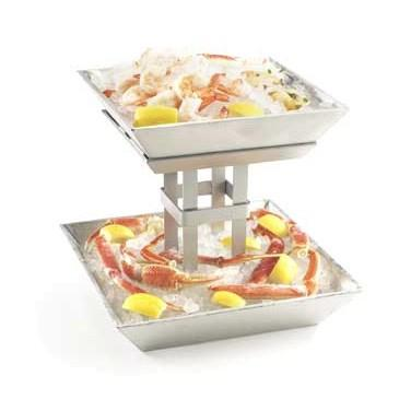 Cal-Mil 1563-2 Mission Two-Tiered Aluminum Ice Display