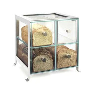Cal Mil 1586 74 Soho Four Drawer Silver Steel Bread Case Charlie S Fixtures