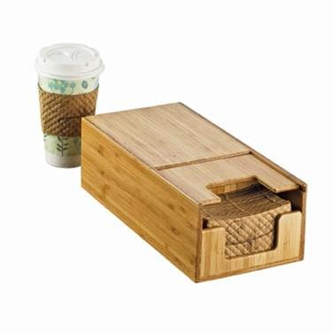 Cal-Mil 2050-60 Bamboo Coffee Sleeve Dispenser