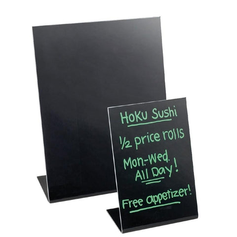 "Cal-Mil 216-13 Classic 8.5"" X 11"" Black Write-On Easel"