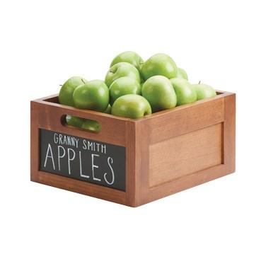 "Cal-Mil 3354-10 Bamboo-Colored Wood Chalkboard Ice Housing - 11"" X 13"""