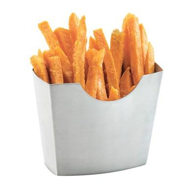 "Cal-Mil 3441-55 4.5"" X 2.5"" French Fry Holder, Stainless Steel"