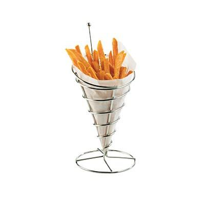 "Cal-Mil 3468 Cone French Fry Holder - 5""W X 10.5""H, Wire"