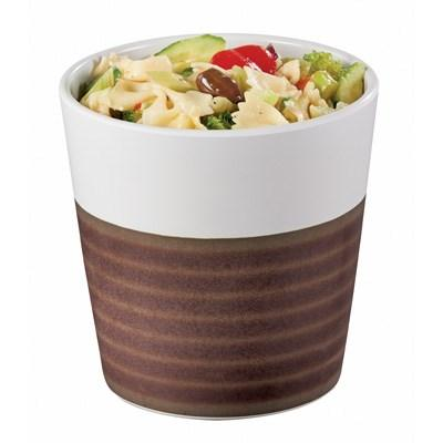 Cal-Mil 3471-5 32 Oz. Two-Tone Melamine Stoneware Small Bowl