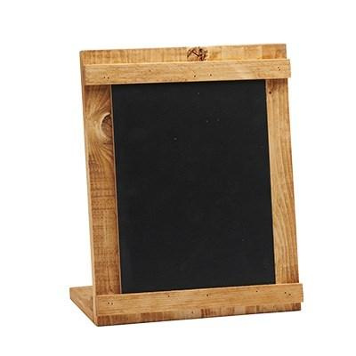 "Cal-Mil 3489-811-99 8.5"" X 11"" Madera Chalkboard Stand with Black Chalkboard, Reclaimed Wood Frame"