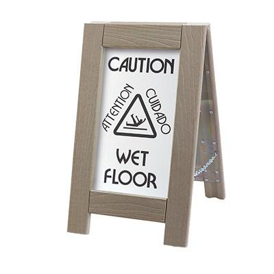 "Cal-Mil 3504 Double-Sided Outdoor Wet Floor Sign - 12""W X 22""H, Composite"