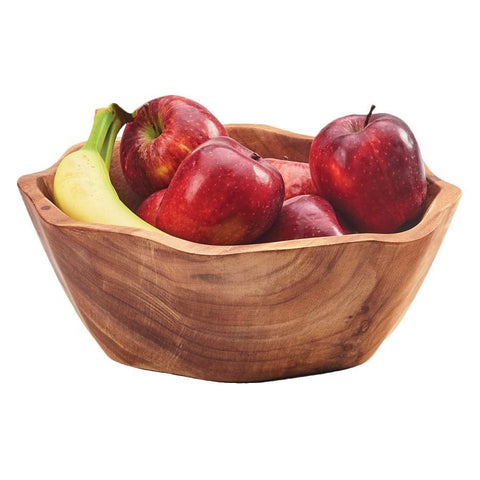 "Cal-Mil 3555-14 Bowl, 14""D X 3.25""H, Round, Hand Wash Only, Wood"