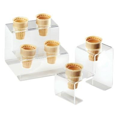 Cal-Mil 3601-2 Two Cone Acrylic Ice Cream Cone Holder