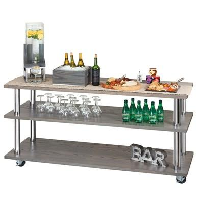 Cal-Mil 3698-4-83 Ashwood Gray Oak 3-Shelf U-Build Service Cart