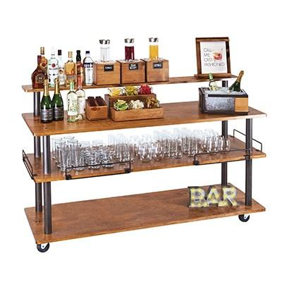 Cal-Mil 3698-4-84 Sierra 3-Shelf U-Build Service Cart, Wood