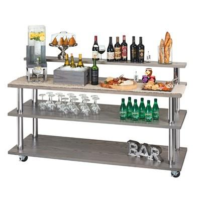 Cal-Mil 3698-4-87SHELF Cinderwood U-Build Cart Top Shelf, Dark Ash Gray Oak Wood