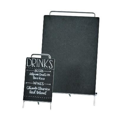 Cal-Mil 3717-811-49 Mid-Century Write-On Sign & Easel, Chrome Easel