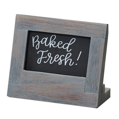"Cal-Mil 3818-23-83 Write-On Sign, 5.5"" X 2.5"" X 4.5"", Gray"